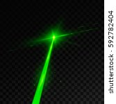 abstract green laser beam.... | Shutterstock .eps vector #592782404