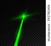 abstract green laser beam.... | Shutterstock .eps vector #592782404