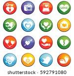 love vector icons for user... | Shutterstock .eps vector #592791080