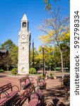 historic clock tower with a...   Shutterstock . vector #592798334