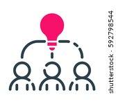 motivation concept idea icon... | Shutterstock .eps vector #592798544