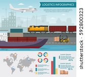 logistics infographic elements... | Shutterstock .eps vector #592800323