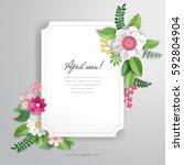 vector advertisement with... | Shutterstock .eps vector #592804904