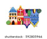 magnetic souvenir with the...   Shutterstock . vector #592805966