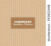 cardboard texture. seamless... | Shutterstock .eps vector #592822448