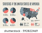 poster map of united states of... | Shutterstock .eps vector #592822469