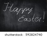"white ""happy easter"" text on an ... 