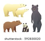 collection with different... | Shutterstock .eps vector #592830020