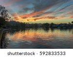 view of westlake village lake... | Shutterstock . vector #592833533