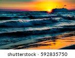 circe sunset | Shutterstock . vector #592835750