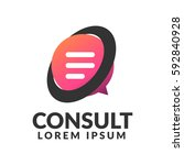 consulting agency logo.... | Shutterstock .eps vector #592840928