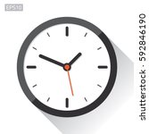 clock icon in flat style  timer ... | Shutterstock .eps vector #592846190