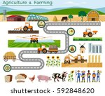 set of vector illustrations for ... | Shutterstock .eps vector #592848620