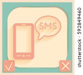 smartphone with the symbol of ... | Shutterstock .eps vector #592849460