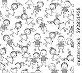 silhouette pattern set... | Shutterstock .eps vector #592851428