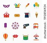 carnival icons design vector. | Shutterstock .eps vector #592856924