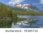 Landscape Of Tioga Lake With...