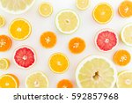 Citrus Fruits Pattern Made Of...