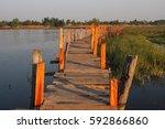 Wooden Walking Bridge Landscap...