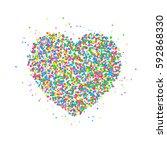 icon heart of multicolored...