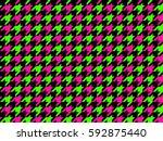 Classic Neon Colors Geometric...