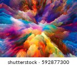 color burst series. abstract... | Shutterstock . vector #592877300