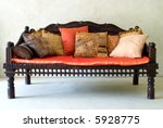 red wooden sofa chair with... | Shutterstock . vector #5928775
