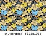 raster illustration on a black... | Shutterstock . vector #592881086