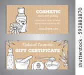 gift voucher for cosmetic shop. | Shutterstock .eps vector #592883870