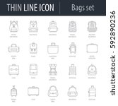 icons set of bags. symbol of... | Shutterstock .eps vector #592890236