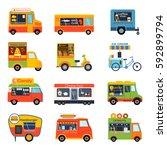 street food festival color... | Shutterstock .eps vector #592899794