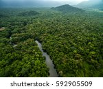 Aerial View Of River In...