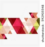 triangle modern mosaic... | Shutterstock .eps vector #592905548