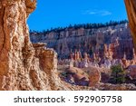 view of sandstone formations in ... | Shutterstock . vector #592905758