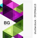vector abstract colorful... | Shutterstock .eps vector #592906613