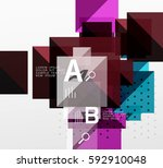 square abstract background.... | Shutterstock .eps vector #592910048