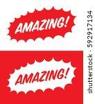 vector amazing starburst set | Shutterstock .eps vector #592917134