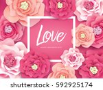 mother's day greeting card with ... | Shutterstock .eps vector #592925174