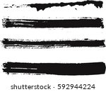 vector ink brush strokes | Shutterstock .eps vector #592944224