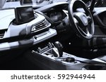 interior view of the modern car | Shutterstock . vector #592944944