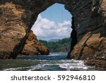 hole in the rock in the... | Shutterstock . vector #592946810