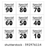 special offer label tag. vector ... | Shutterstock .eps vector #592976114