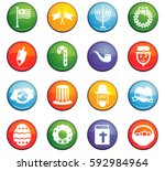 holidays vector icons for user... | Shutterstock .eps vector #592984964