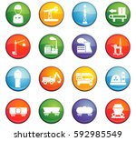 industry vector icons for user... | Shutterstock .eps vector #592985549