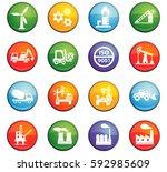 industry vector icons for user... | Shutterstock .eps vector #592985609