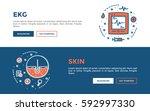 doodle web banners vector... | Shutterstock .eps vector #592997330