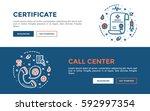 doodle web banners vector...   Shutterstock .eps vector #592997354