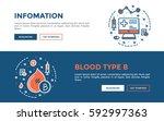 doodle web banners vector... | Shutterstock .eps vector #592997363