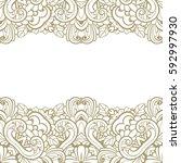 vintage frame. decorative... | Shutterstock .eps vector #592997930