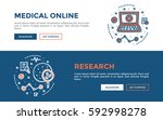 doodle web banners vector...   Shutterstock .eps vector #592998278